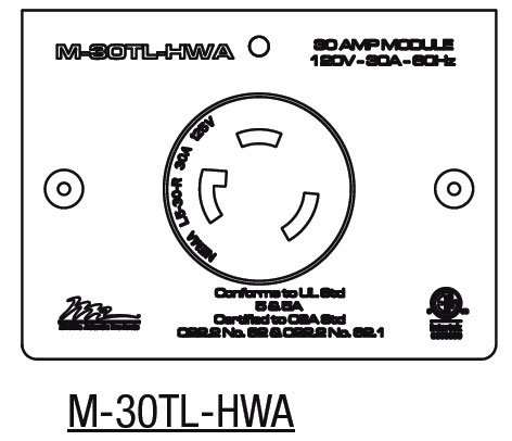 Middle Atlantic Products M-30TL-HWA  30 Amp MPR Twist Lock L5-30R (Hardwired Only) M-30TL-HWA