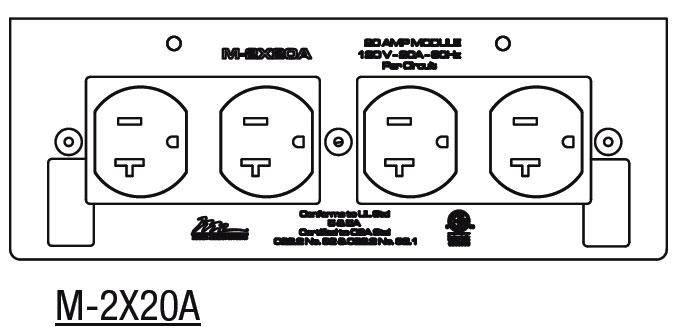 20 Amp Double Duplex MPR Module