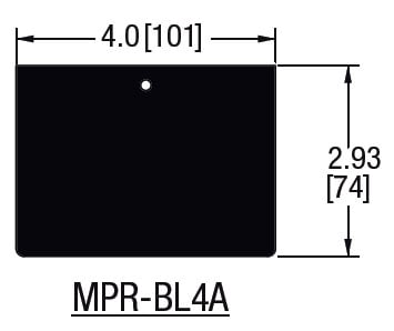 "Middle Atlantic Products MPR-BL4A 4"" Blank Cover for MPR Raceway MPR-BL4A"