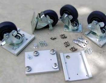 Caster Plate & Wheel Kit