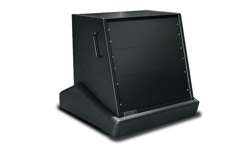 Argosy Consoles RR-L10-B  10RU Rack 'N Roll Rack, Black Trim Panels RR-L10-B