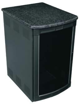 "19RU (27""D) Darkstone BGR Series Presentation Enclosure System"