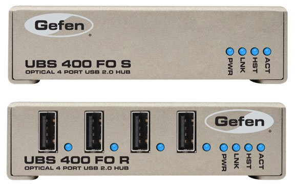 USB 2.0 Extender with Fiber Optic Cable