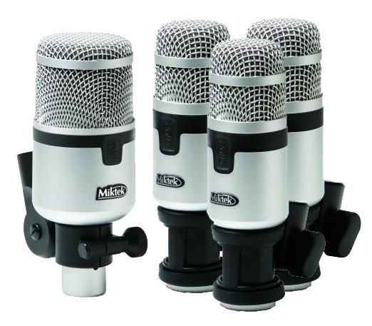 Miktek Audio PMD4  Drum Microphone Kit (1 x PM11, 3 x PM10) PMD4