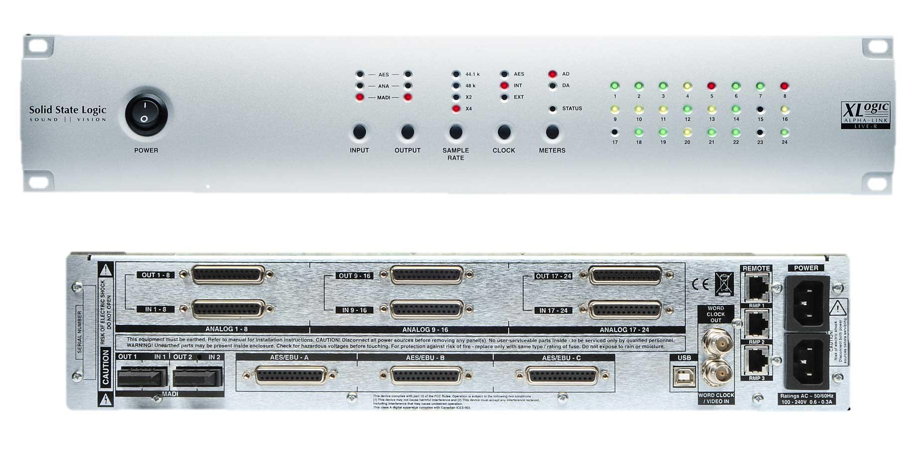 Solid State Logic Alpha-Link MADI Live R AD/DA Converter ALPHA-LINK-MADI-LIVR