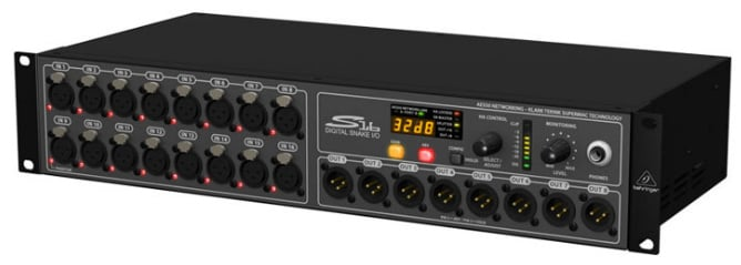 I/O Box with 16 Microphone Preamps and 8 XLR Outputs