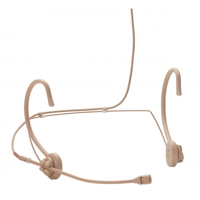 Supercardioid Headset Condenser Microphone for Wireless in Tan