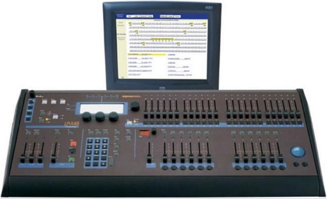 "LP-X48 DMX Controller with 15"" Touchscreen Monitor"