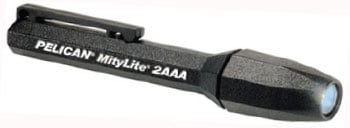 Black MityLite Submersible Flashlight (Tubed) for use with Night Vision