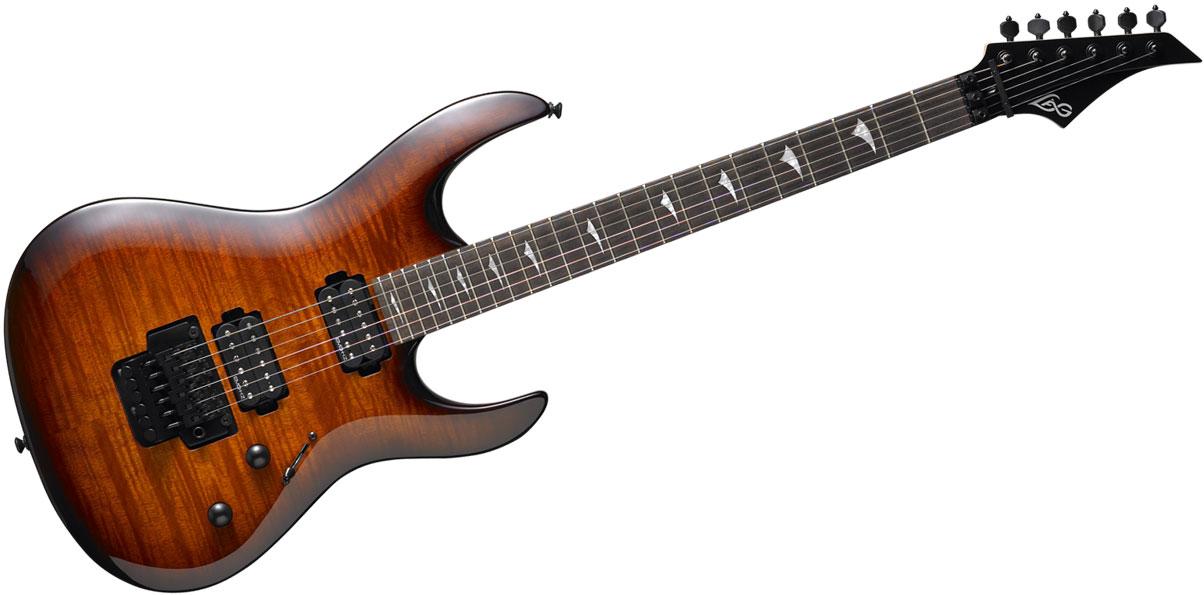 Arkane Series 200 Double Cutaway Guitar (Brown Shadow)
