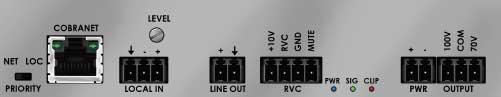 Mono Dante Subcompact Amplifier, 50W x 1 @ 70V/100V