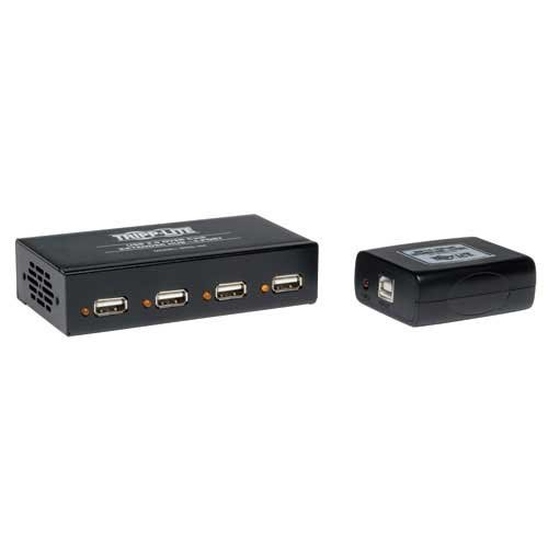 USB 2.0/Cat5 Extender with 4-Port Hub