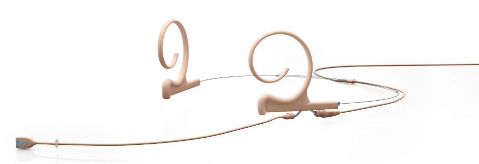d:fine Beige Dual Earhook Cardioid Headset Microphone