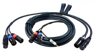 "M3 7-Pin Quick Release Cable System Set: 18 ft. (2) XLR-3F Mixer End and 30.5"" Digital Camera End"