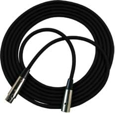 50 ft. Black XLR-F to XLR-M M1 Series Microphone Cable with Black Neutrik XX Series Connectors