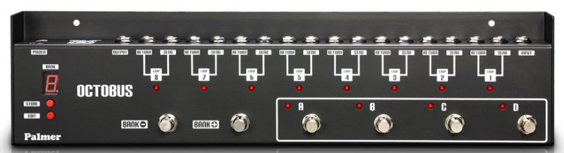 palmer octobus 8 channel programmable loop switcher for effects pedal full compass. Black Bedroom Furniture Sets. Home Design Ideas