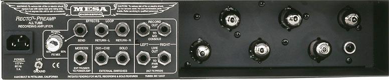 Rackmount Recording Guitar Preamplifier