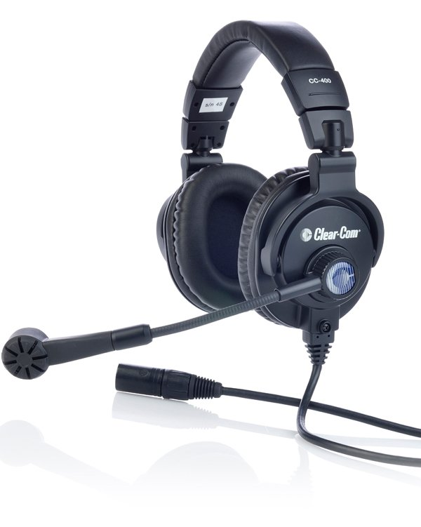Double-Ear Intercom Headset with 5-Pin XLR Male Connector