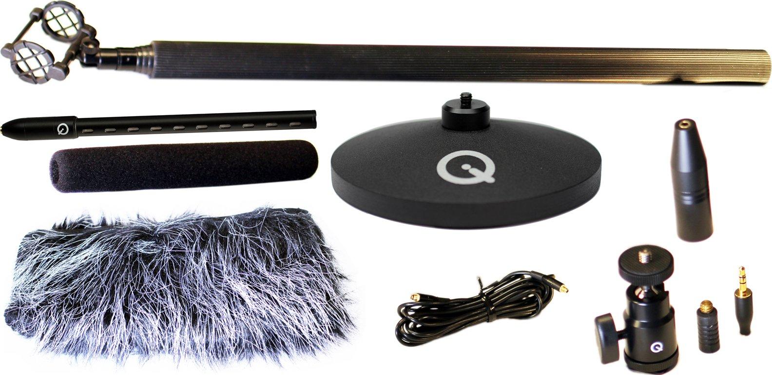 Mini Shotgun Microphone Kit with Shockmount, Shoe Mount, etc.