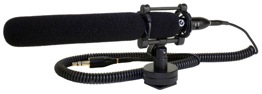Mini Shotgun Microphone Kit for DSLRs, HD Camcorders