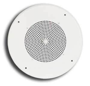 "8"" Ceiling Speaker with 25/70V Transformer and Grille"