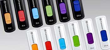 32GB USB 2.0 Flash Drive, White & Purple