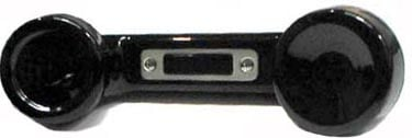 Black Telephone-Style Push-To-Talk Handset with A4M Connector