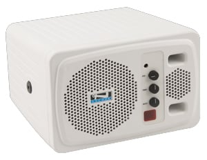 White Powered Speaker with Receiver