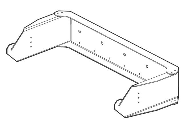 U-Bracket for VFR Speakers, White