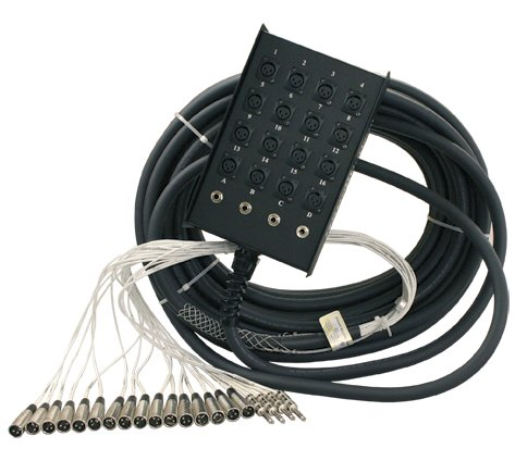 "S Series 75 ft 12-Channel, 8x4 Snake with 1/4"" Returns"