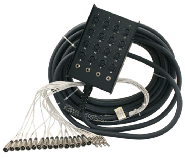 "RapcoHorizon Music S12X4-150 150 feet Stage Snake, 16 channel, 12x4 with 1/4"" returns S12X4-150"