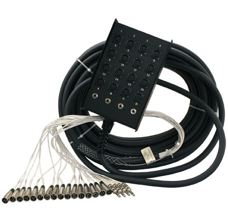 "50 feet Stage Snake, 28 channel, 24x4 with 1/4"" returns"
