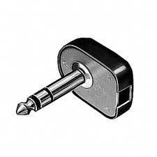 "Plug, 1/4"" 2 Conductor Right Angle, Screw"