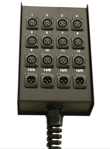 RapcoHorizon Music S20BFLR 16x4 Loaded XLR Output Stage Box S20BFLR