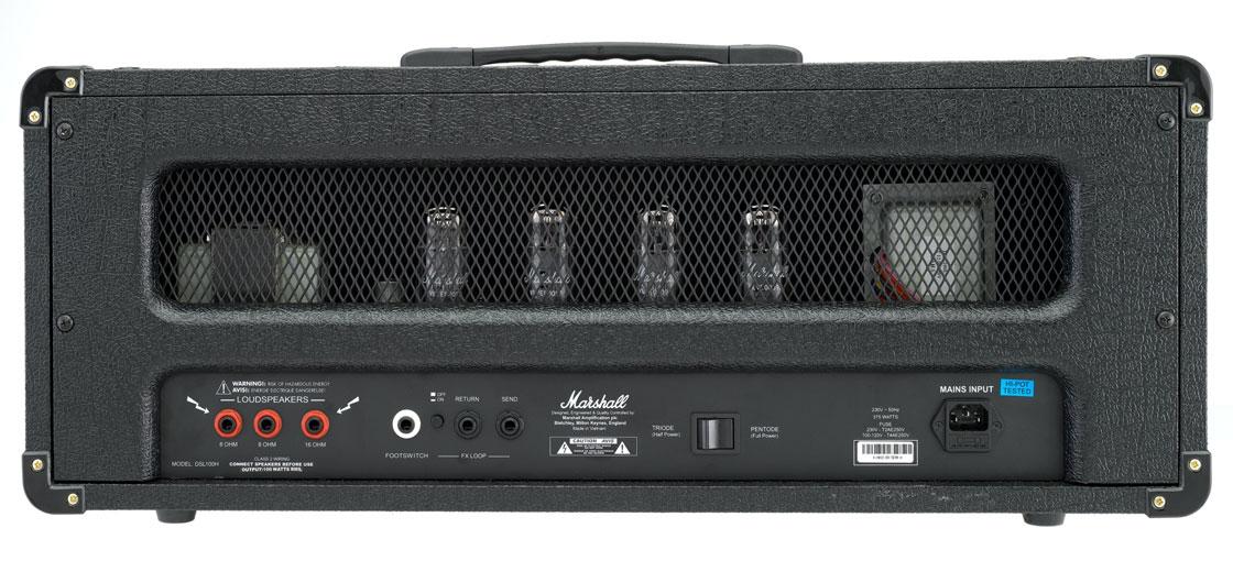 Marshall Amplification DSL100H 100W 2-Ch Tube Guitar Amplifier Head DSL100H-U