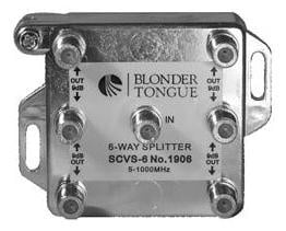 Blonder-Tongue SCVS-6  6-Way L-Style Splitter SCVS-6