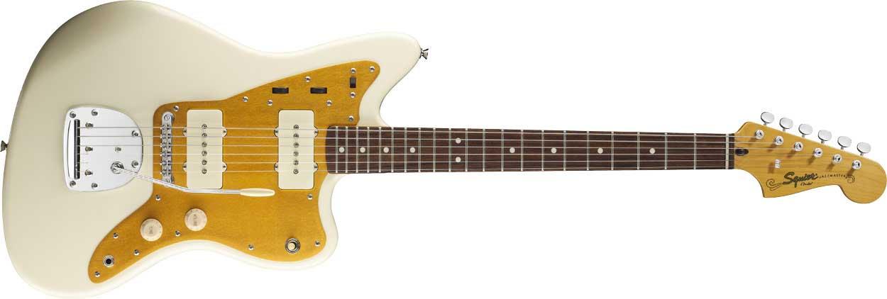 J Mascis Jazzmaster Artist Series Electric Guitar, Vintage White