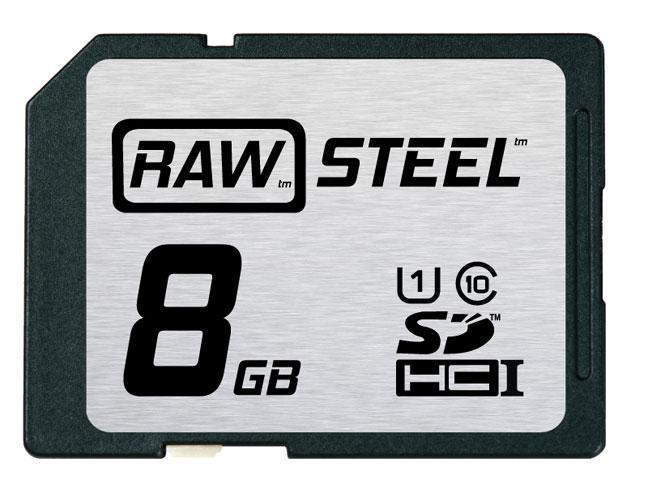 Hoodman Corporation RAWSDHC8GBU1 8GB RAW STEEL Ultra High Speed UHS-1 Card RAWSDHC8GBU1