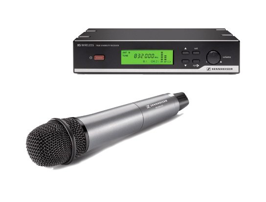 Wireless Handheld Vocal Microphone Set with e835 Cardioid Dynamic Capsule