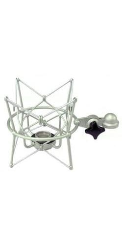 Elastic Suspension Mount in Satin Nickel Finish for U 87 Ai Microphone