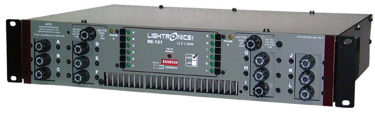 12 Channels x 1200W Rack Mount Dimmer with Terminal/Barrier Connector Strip with Knockout Cover