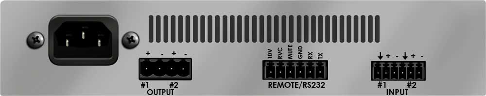 Rack Mountable 160W 70V/100V Amplifier