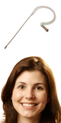 E6i Earset Microphone for Telex wireless, Cocoa