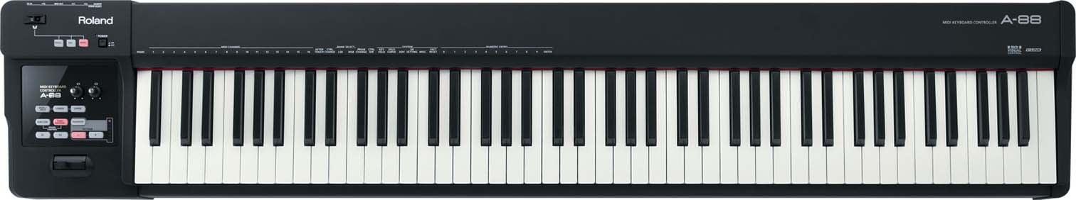 88-Key MIDI Keyboard Controller in Black