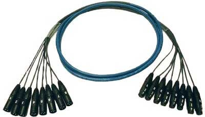 16Ch Multitrack Audio Snake, XLR Female to XLR Male, 10ft