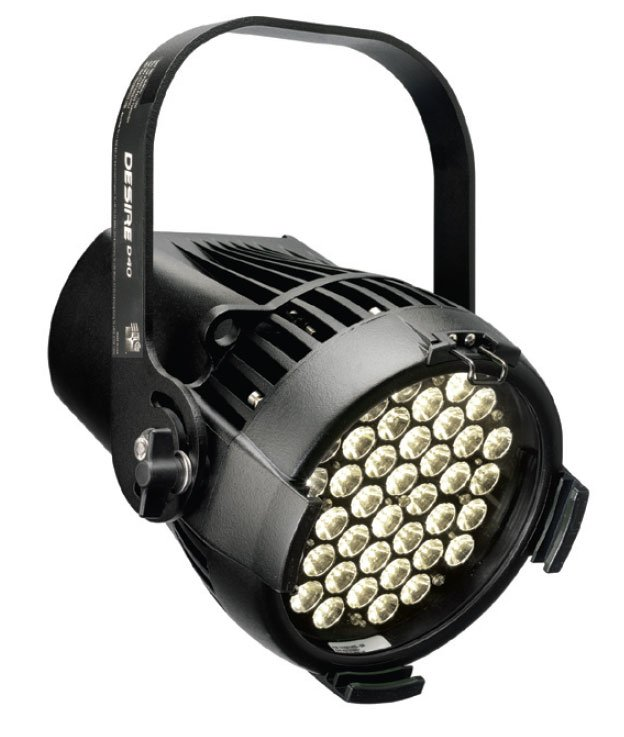 Desire D40 Studio Daylight LED in Black, Stage Pin Connector