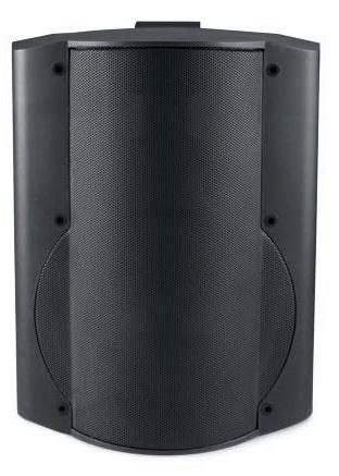 26W Low Voltage Amplified Surface Mount Speaker in Black