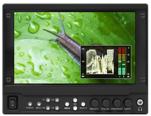 "7"" High Brightness Modular Camera-Top Monitor (No Modules Included)"