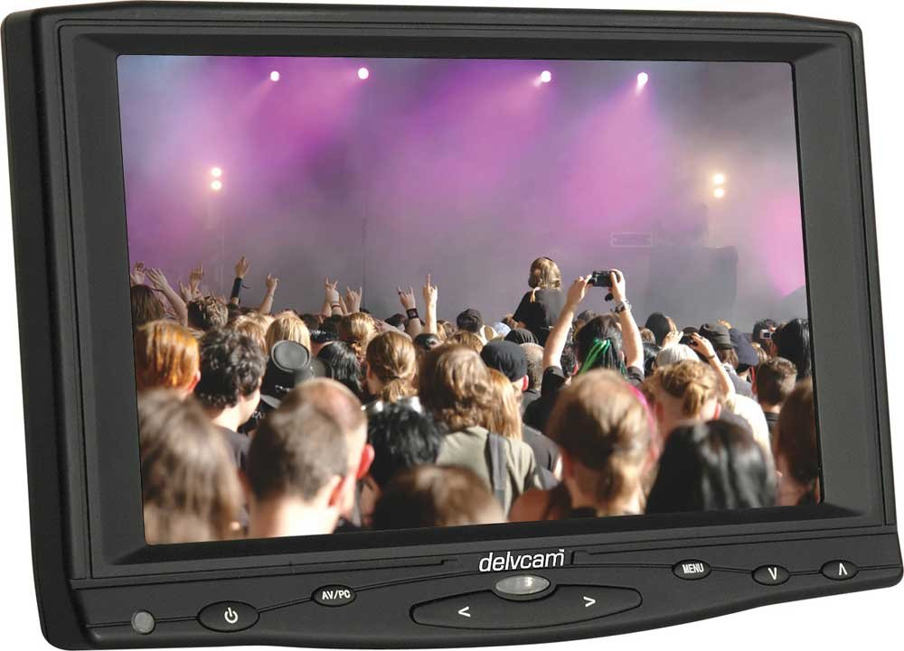 "Delvcam HDMI/VGA/Composite 16x9 7"" Camera Top LCD Monitor"