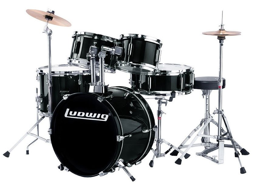 ludwig drums ljr106 5 pc junior drum kit with hardware and cymbals full compass. Black Bedroom Furniture Sets. Home Design Ideas